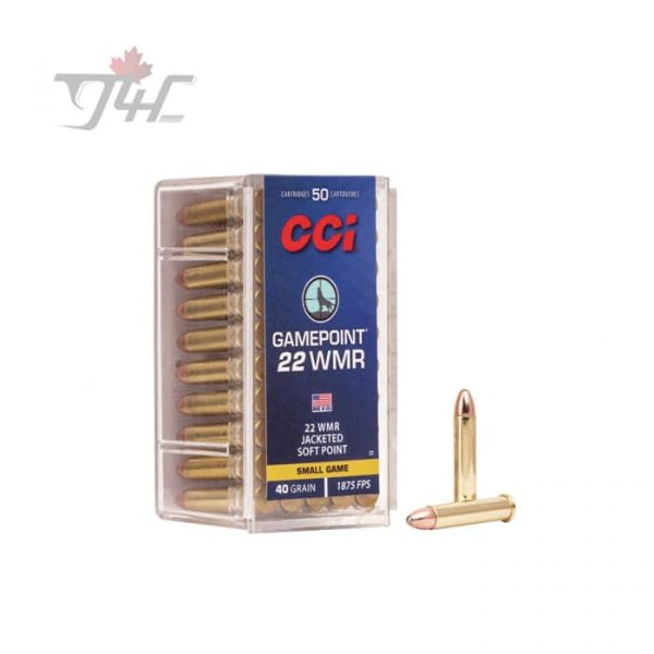 CCI .22WMR Game-Point 40gr. JSP 50rds