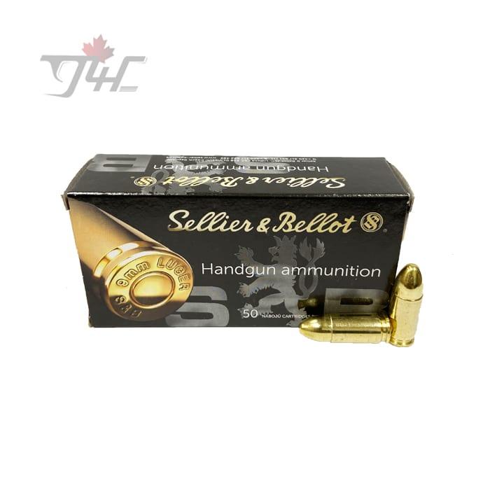 Sellier & Bellot 9mm Luger 124gr. FMJ 50rds