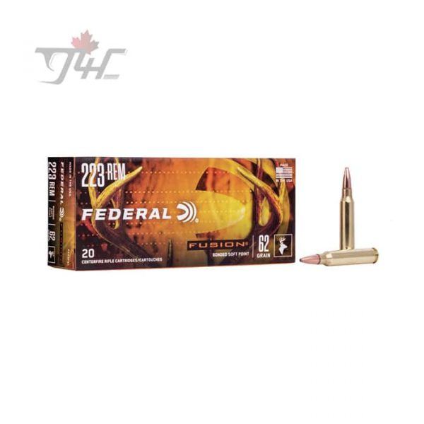 Federal Fusion .223REM 62gr. Fusion-SP-BT 20rds