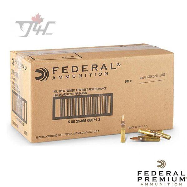 Federal 5.56NATO 55gr. FMJ-BT 1000rds