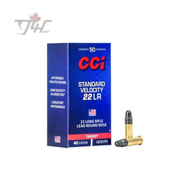 CCI .22LR Standard-Velocity 40gr. LRN 50rds