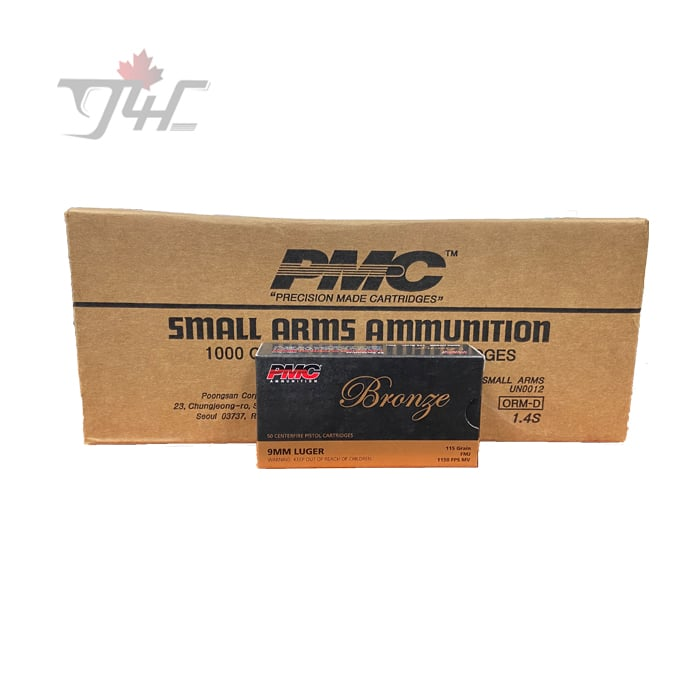 PMC Bronze 9mm Luger 115gr. FMJ 1000rds