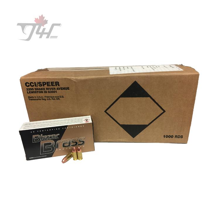 CCI Blazer-Brass 9mm Luger 124gr