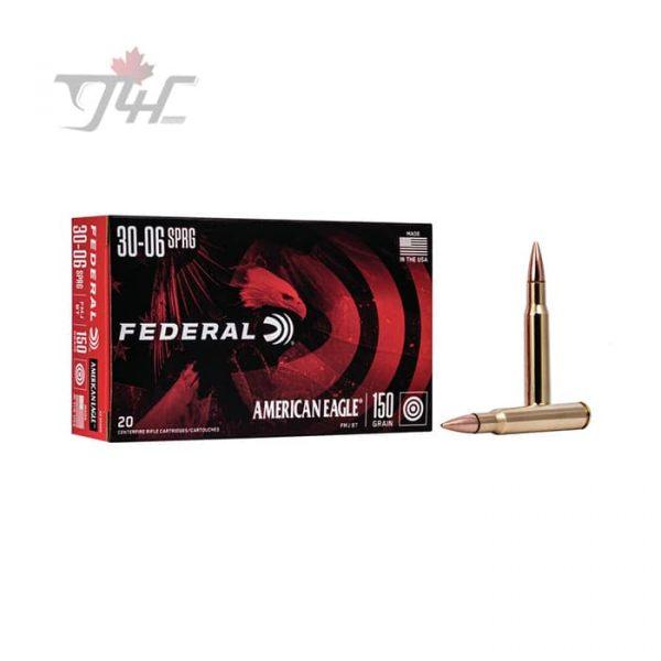 Fed. American Eagle 30-06SPRG 150gr. FMJ-BT 20rds