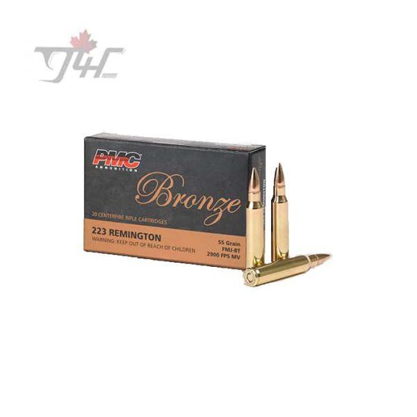 PMC Bronze .223REM 55gr. FMJ-BT 20rds