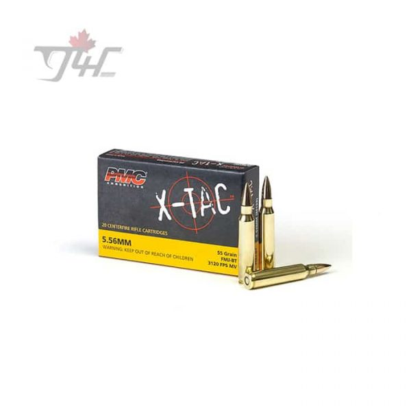 PMC X-Tac 5.56x45mm 55gr. FMJ-BT 20rds