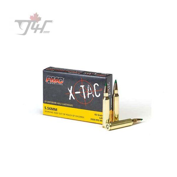 PMC X-Tac 5.56x45mm 62gr. LAP Green-Tip 20rds