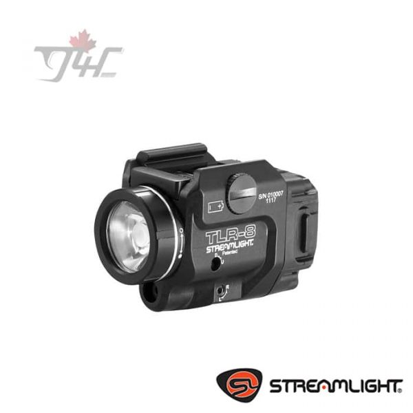 Streamlight TLR-8 Low Profile Tactical Light 500Lumens with Red Laser BLK