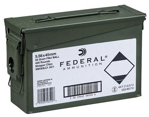 Federal 5.56x45mm 55gr. FMJ Stripper Clips 420rds