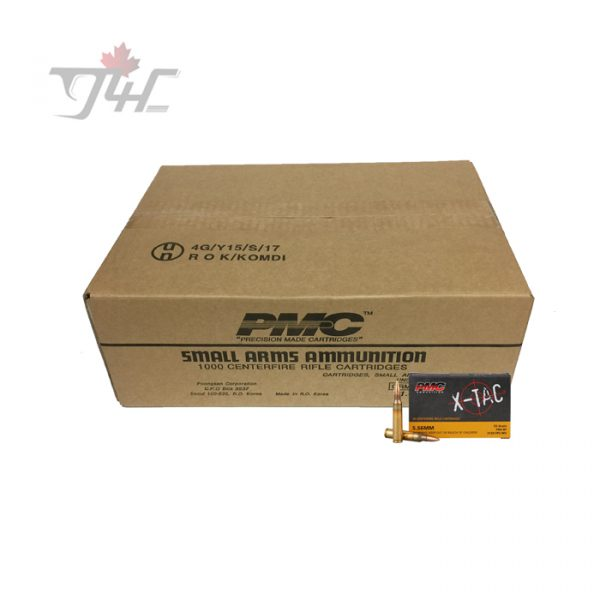 PMC X-Tac 5.56x45mm 55gr. FMJ-BT 500rds