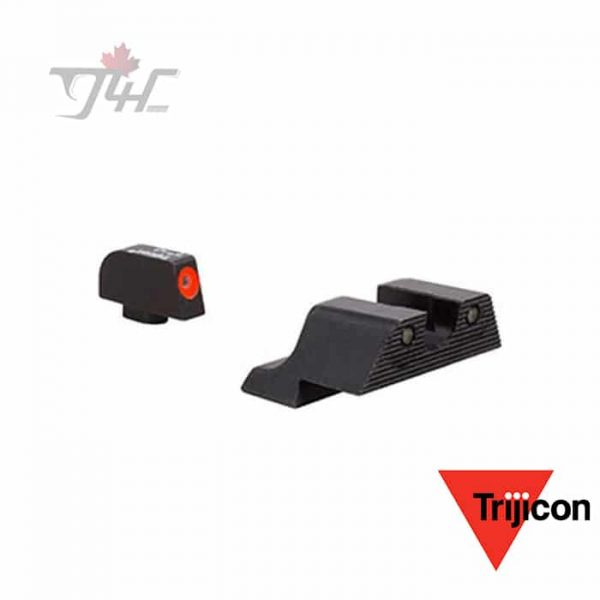 Trijicon GL601-C-600836 HD Night Sights with Orange Front Outline for Glock Pistols