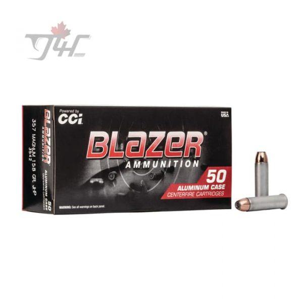 CCI Blazer .357MAG 158gr. JHP 50rds