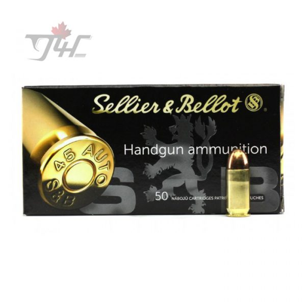 Sellier & Bellot .45 ACP 230gr. FMJ 50rds