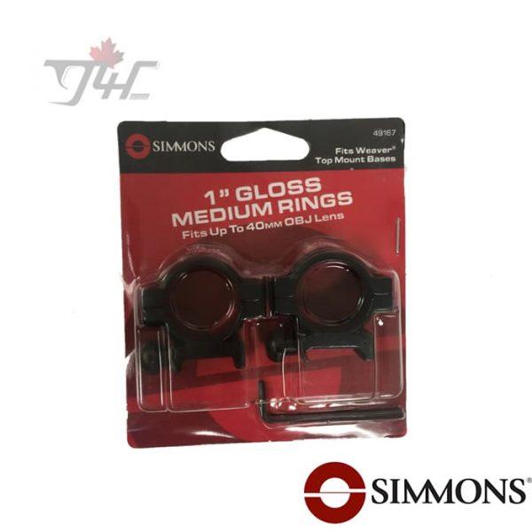 Simmons-1-Tube-Ring-Gloss-Medium-new