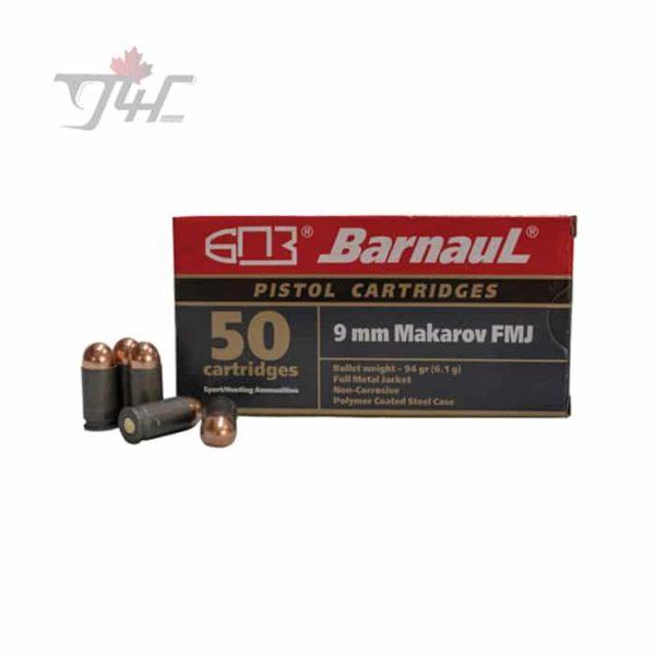 Barnaul 9mm Makarov 94gr. FMJ 50rds