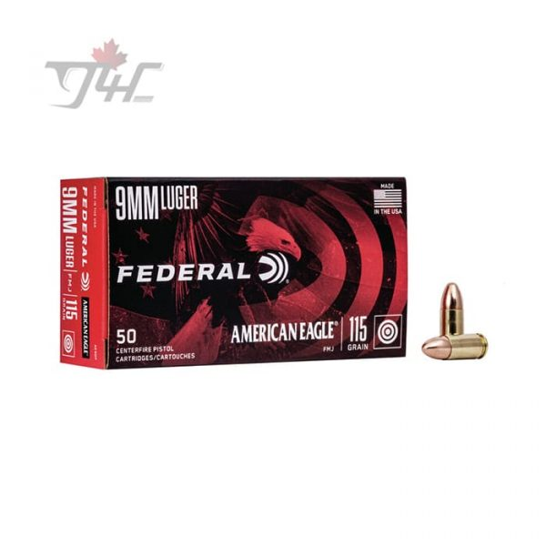 Fed. American Eagle 9mm Luger 115gr. FMJ 50rds