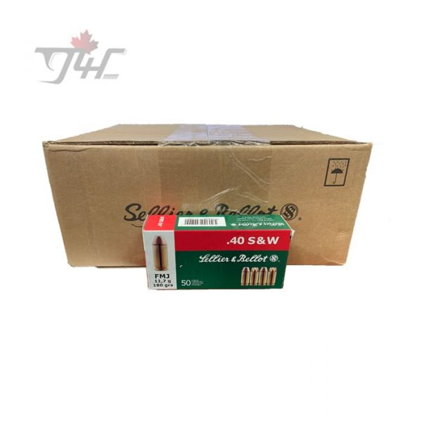 Sellier & Bellot .40S&W 180gr. FMJ 1000rds