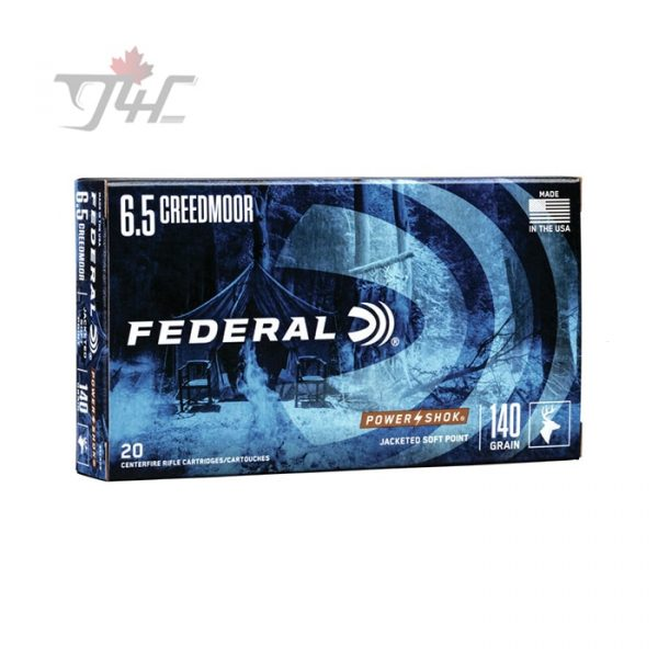 Federal Power-Shok 6.5Creedmoor 140gr. SP 20rds