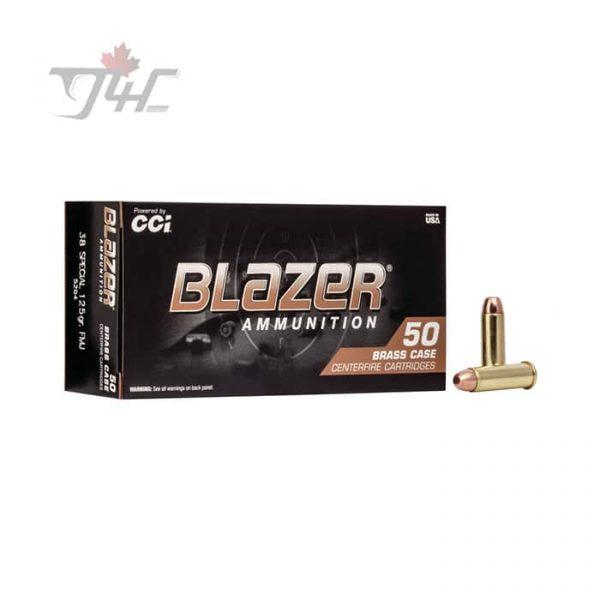 CCI Blazer-Brass .38Special 125gr. FMJ 50rds