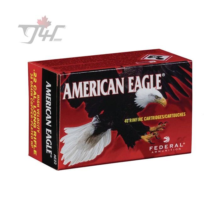 Fed. American Eagle .22LR High-Velocity 38gr. CHP 40rds