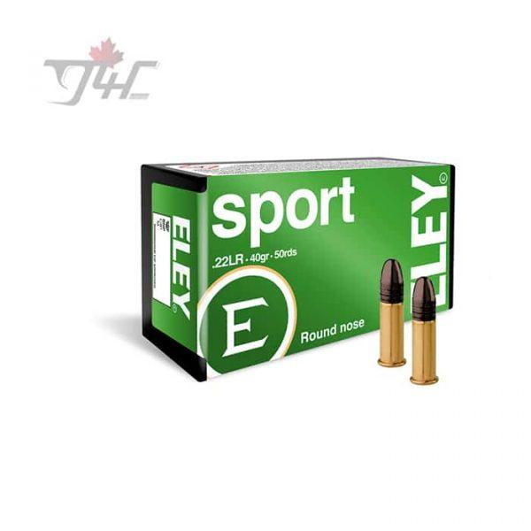 Eley Sport .22LR 40gr. LRN 50rds