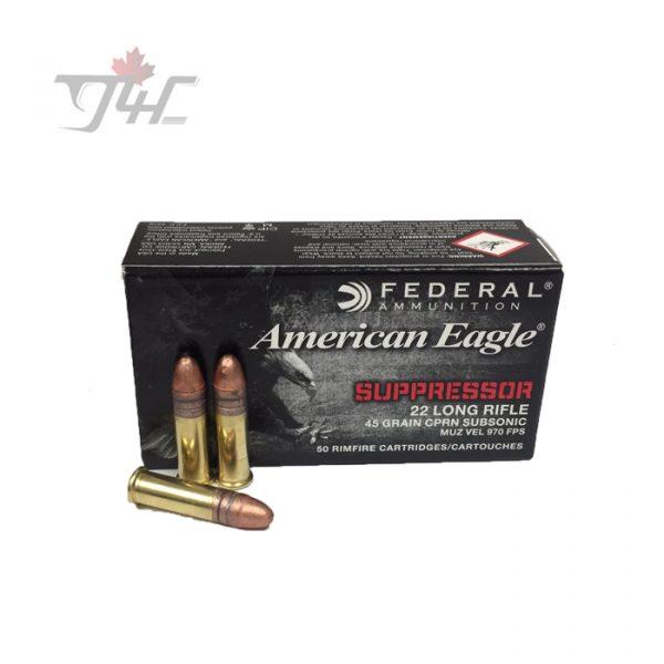 Fed. American Eagle .22LR Suppressor 45gr