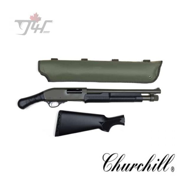 Churchill-Pump-Shockwave-Grip-Scabbard-12Gauge-15-BRL-OD-Green