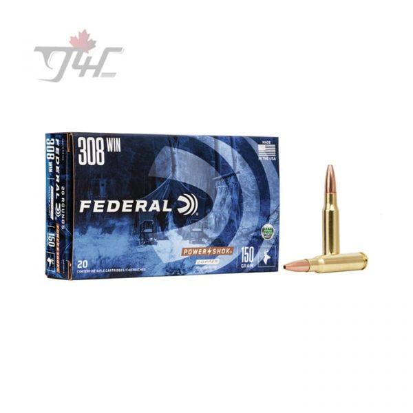 Federal Power-Shok Lead-Free .308WIN 150gr. CHP 20rds