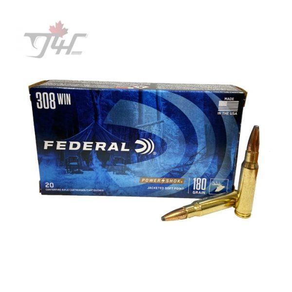 Federal Power-Shok .308WIN 180gr. SP 20rds