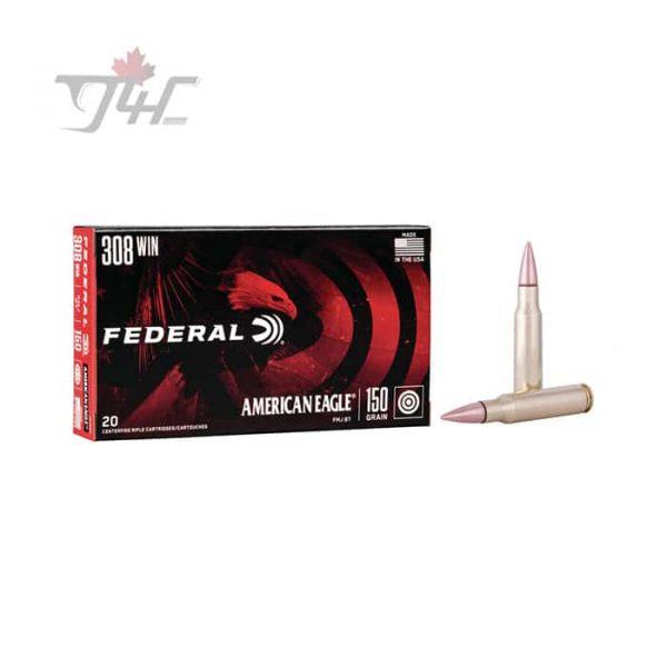 Fed. American Eagle .308WIN 150gr. FMJ-BT 20rds