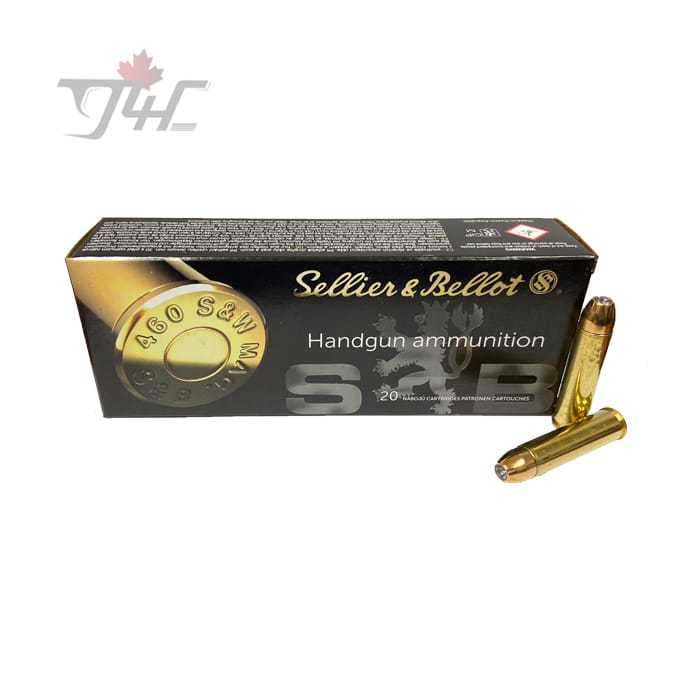 Sellier & Bellot .460S&W MAG 255gr. JHP 20rds