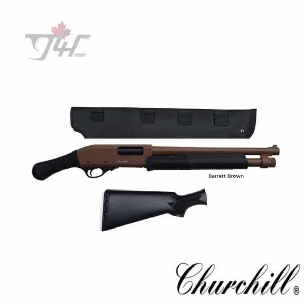 Churchill-Pump-with-Shockwave-Grip-Scabbard-12Gauge-15-BRL-Cerakote-Barret-Brown