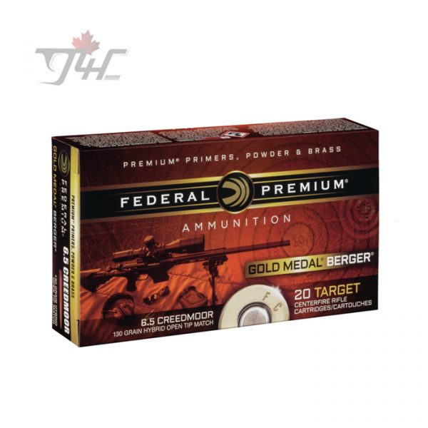 Federal Gold Medal Berger 6.5 Creedmoor 130gr Hybrid Open Tip Match 20rds