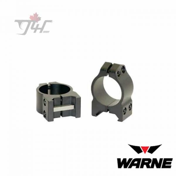 Warne-200M-1-Tube-Maxima-Fixed-Low-Matte-Rings-