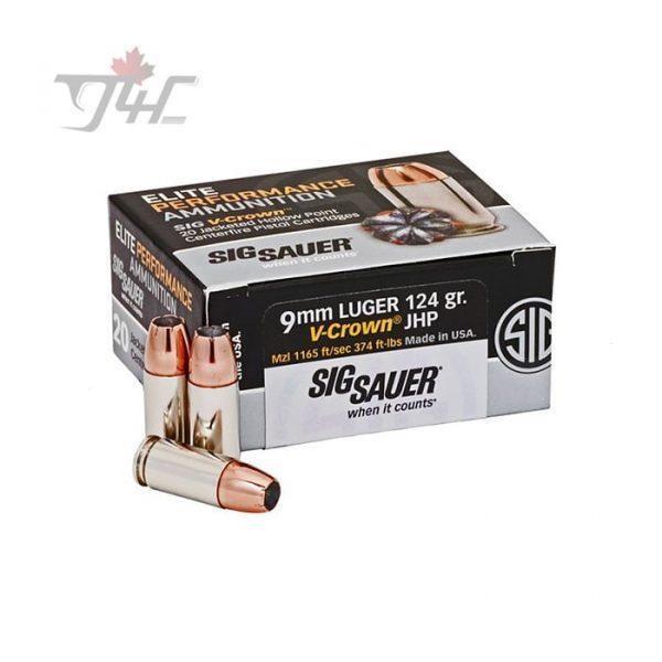Sig Sauer Elite V-Crown 9mm Luger 124gr. JHP 20rds