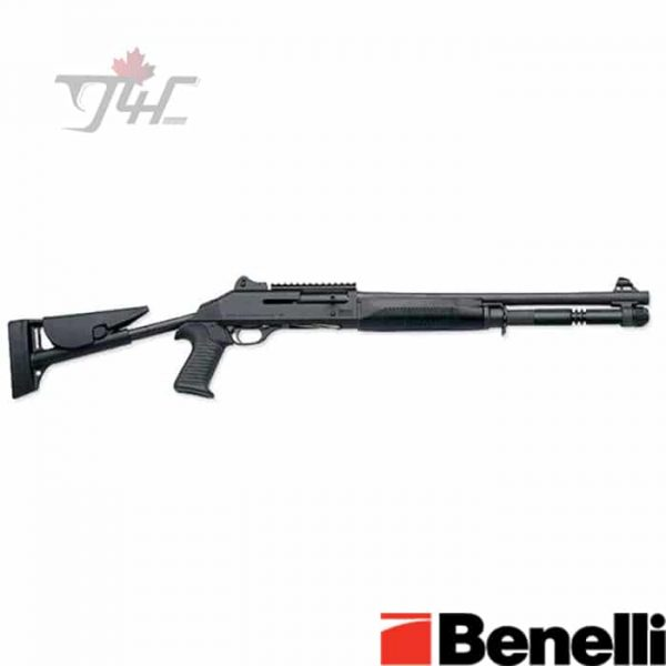 Benelli-M4-Tactical-Telescoping-Stock-12Gauge-18.5-Black-Synthetic