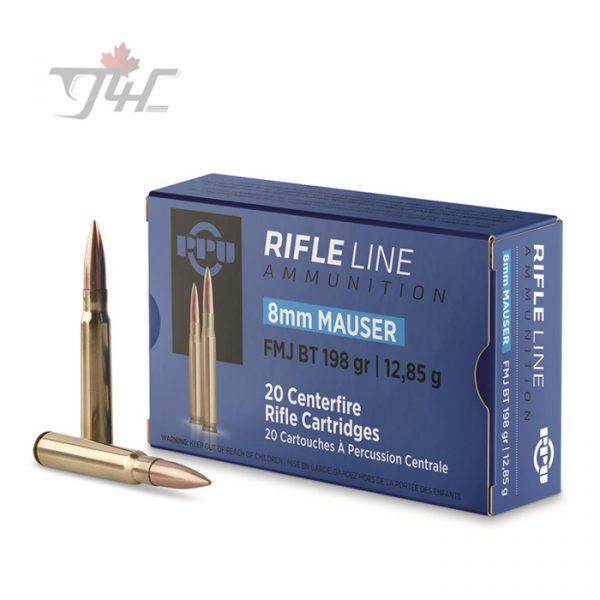 PPU 8mm Mauser 198gr. FMJ BT 20rds
