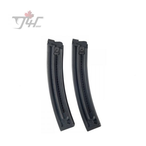 German Sport GSG-16 .22LR 22rds Magazine Black Twin-Pack
