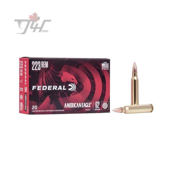 Fed. American Eagle .223REM 62gr. FMJ BT 20rds