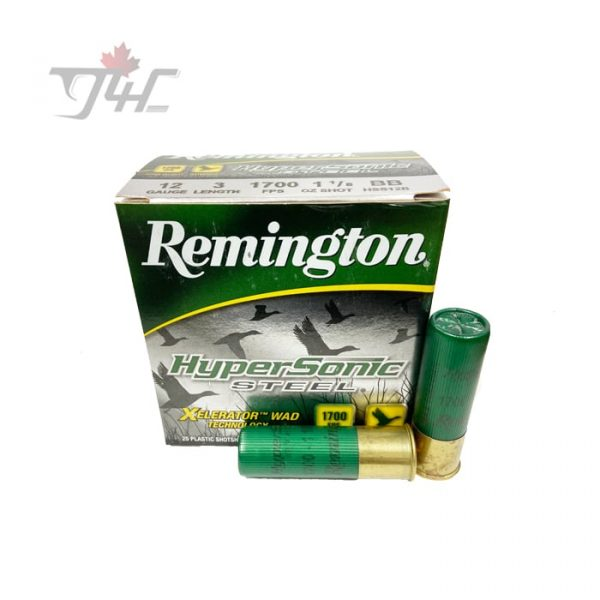 "Remington HyperSonic Steel 12Gauge 3"" #BB 1-1/8oz 1700FPS Shot 25rds"