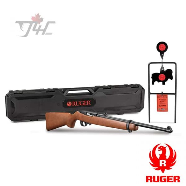 Ruger-10-22-Carbine-with-Spinner-Target-.22LR-18.5-inch-Black-and-Wood-1