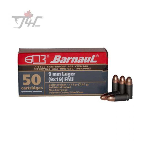 Barnaul 9mm 115gr. FMJ 1000rds
