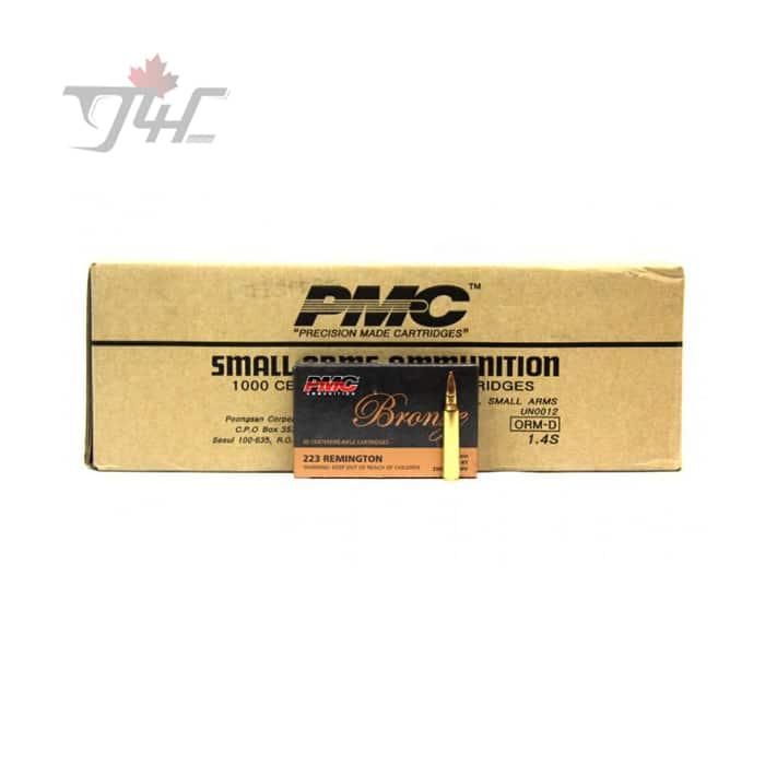PMC Bronze .223REM 55gr. FMJ-BT 500rds