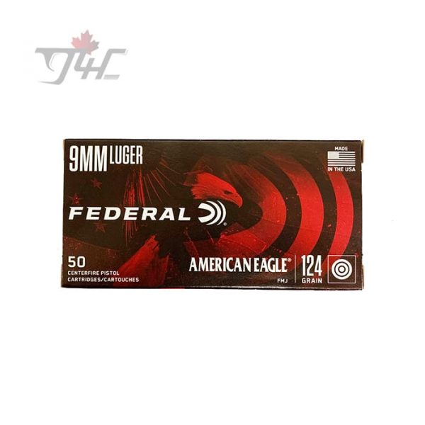 Fed. American Eagle 9mm Luger 124gr. FMJ 50rds