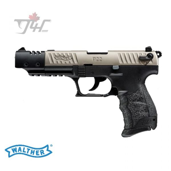 Walther P22Q Nickel M2 Target .22LR 5 BRL