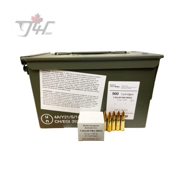 RUAG GECO 7.62x39mm 124gr. FMJ 900rds