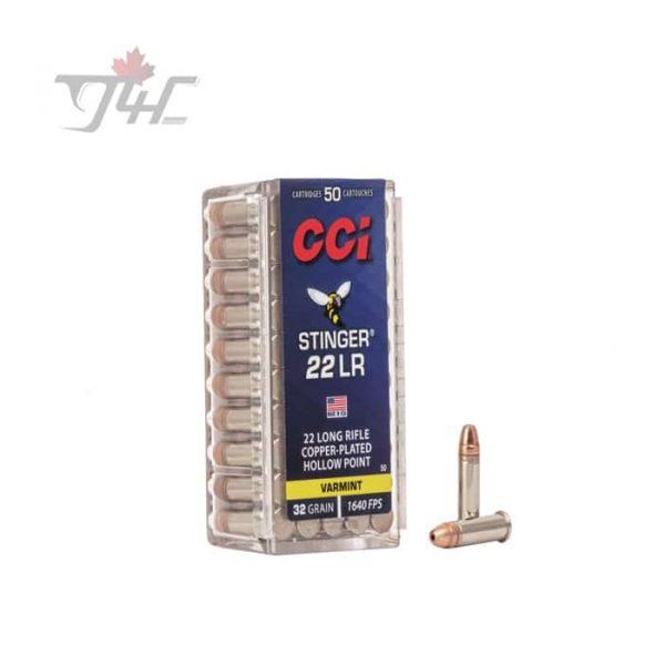 CCI .22LR Stinger 32gr. CPHP 1000rds
