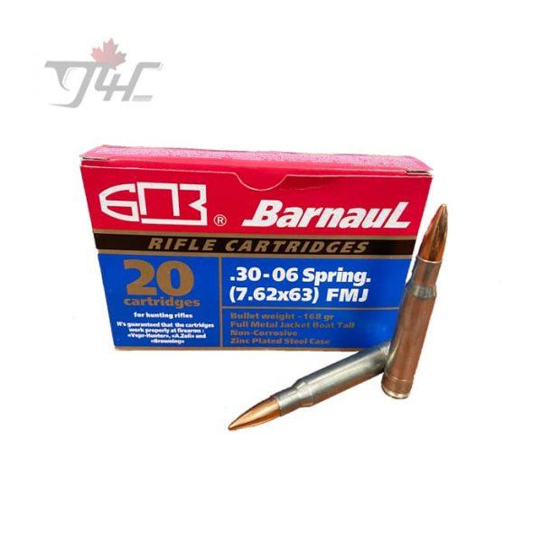 Barnaul 30-06SPRG 168gr FMJ 20rds