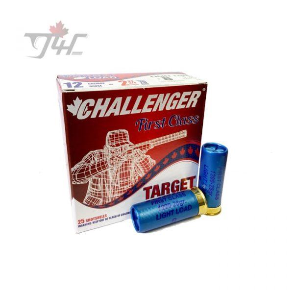 Challenger 12Gauge First Class Target Load 2-3/4inch 1oz. #8 Shot 25rds