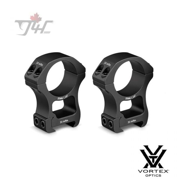 Vortex Pro Series 30mm Tube Rings Matte (Extra-High)
